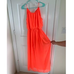 Sweet Storm neon colored maxi dress, Small